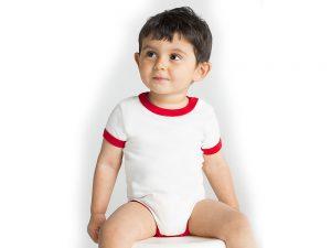 Body s krátkym rukávom a lemom pre bábätká