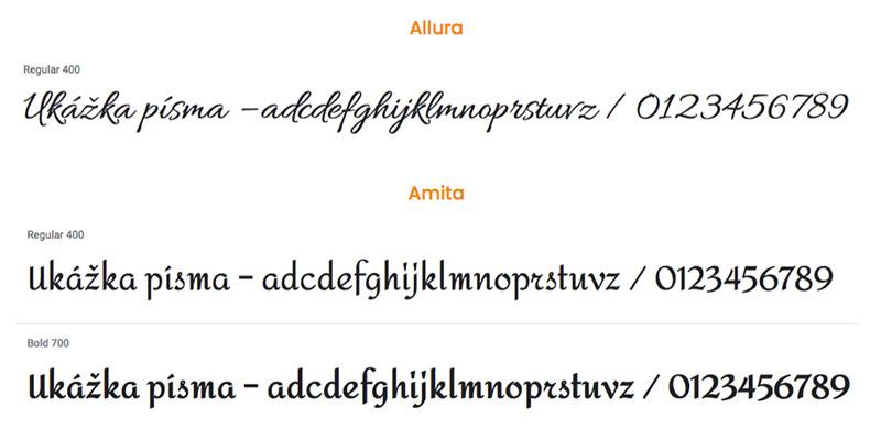 Fonty ozdobné a písané