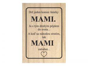 Gravírovaná tabuľka Deň matiek