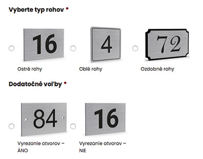 Menovky a označenie dverí online Žilina