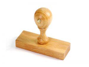 Obdĺžnikové drevené pečiatky