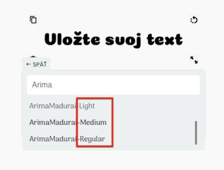 Používanie fontov