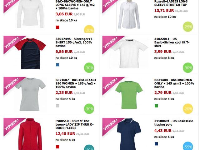 TigerPrint reklamný textil