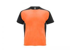 Tréningové tričko farebné čierny lem