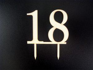 Gravírovaný zápich ľubovoľné číslo